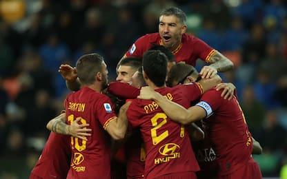 La Roma domina e sale al 4° posto: Udinese ko 4-0