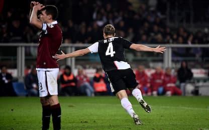 De Ligt stende il Torino, derby alla Juve: 1-0