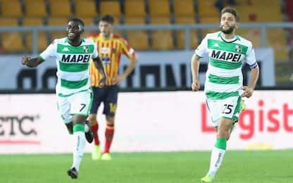 Berardi salva il Sassuolo, Lecce frenato 2-2