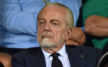 """De Laurentiis: """"Squadra in ritiro fino a domenica"""""""