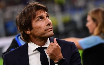 Inter Milan's Italian head coach Antonio Conte attends the Italian Serie A football match Inter Milan vs Udinese on September 14, 2019 at the San Siro stadium in Milan. (Photo by Miguel MEDINA / AFP)        (Photo credit should read MIGUEL MEDINA/AFP via Getty Images)