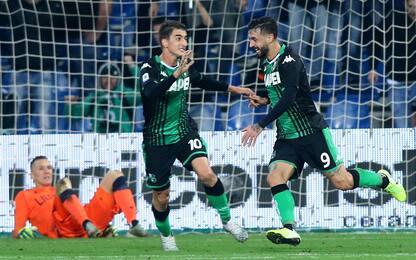 Caputo trascina il Sassuolo: 3-1 al Bologna