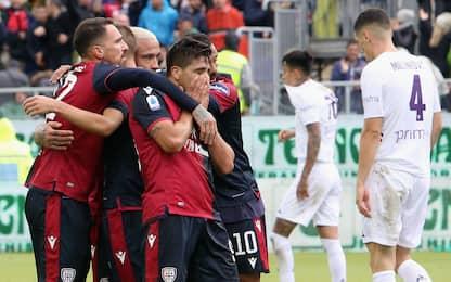 Cagliari show, è 3° posto! Fiorentina travolta 5-2