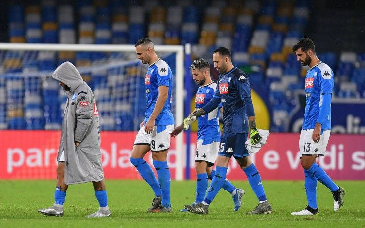 I giocatori del Napoli dopo il triplice fischio