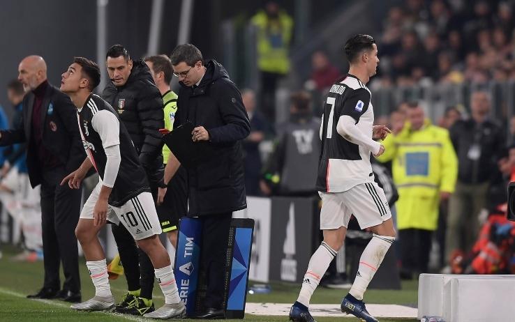 Ronaldo sostituito da Dybala
