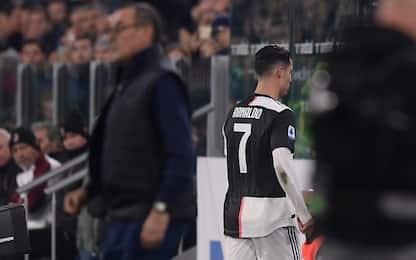 """Sarri: """"Ronaldo non sta bene, va ringraziato"""""""