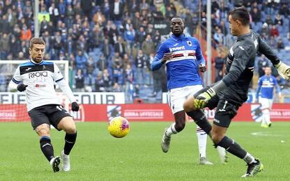 Atalanta, il gol non arriva: solo 0-0 con la Samp