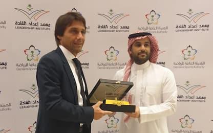 Conte in Arabia Saudita per dare lezioni di calcio
