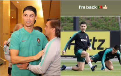 "Ronaldo riparte dal Portogallo: ""I'm back"""