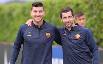 Roma, Pellegrini e Mkhitaryan tornano in gruppo
