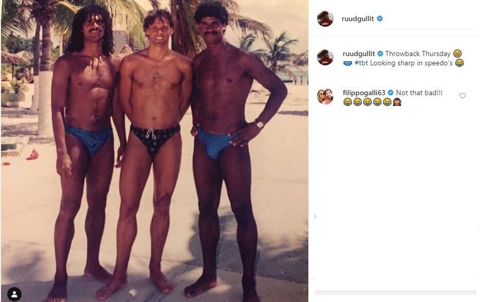 Ruud Gullit, Marco Van Basten e Frank Rijkaard