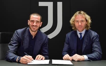 Juve, Bonucci rinnova fino al 2024: è ufficiale