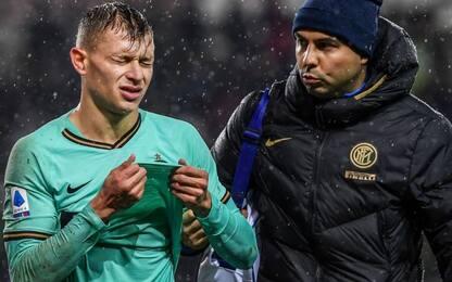 Inter, distorsione al ginocchio per Barella