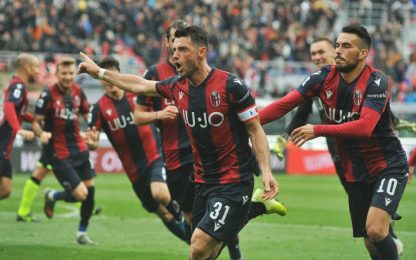 Dzemaili salva il Bologna: 2-2 nel derby col Parma