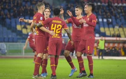 La Roma riprende la corsa: Brescia battuto 3-0