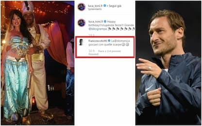 """Toni è Aladdin. Totti: """"Giocavi con quelle scarpe"""""""