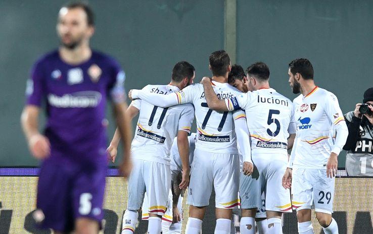 Fiorentina-Lecce 0-1: gol e highlights. Decisivo La Mantia, infortunio ...