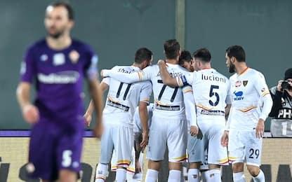 Colpo Lecce a Firenze, 1-0 firmato La Mantia