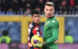 GENOA, ITALY - NOVEMBER 30: Andrei Radu, goalkeeper of Genoa CFC during the Serie A match between Genoa CFC and Torino FC at Stadio Luigi Ferraris on November 30, 2019 in Genoa, Italy. (Photo by Paolo Rattini/Getty Images)