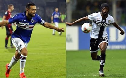 Sampdoria-Parma, le probabili formazioni
