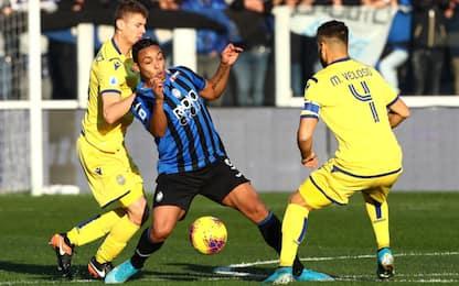 Atalanta-Verona 0-1 LIVE, Gomez calcia alto