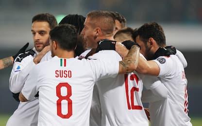 Il Milan vince ancora: 3-2 al Bologna