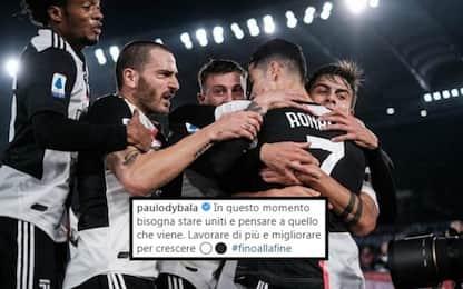 """La Juve cade, Bonucci e Dybala: """"Restiamo uniti"""""""