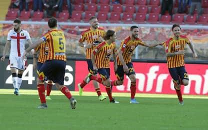 Il Lecce riacciuffa un Genoa in 9 uomini: è 2-2