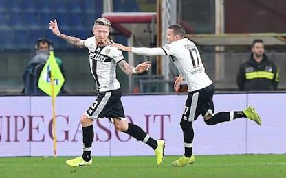 Samp-Parma 0-1 LIVE: traversa di Gabbiadini