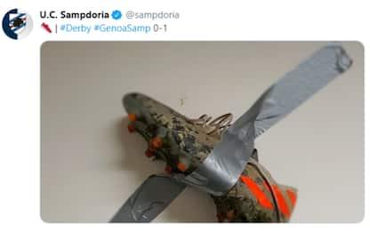Gabbiadini come Cattelan: la foto della Sampdoria
