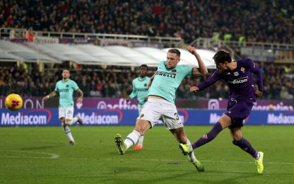 Vlahovic segna al 92', la Fiorentina frena l'Inter