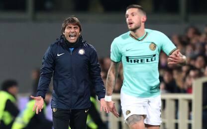 """Conte: """"Romelu e Lautaro posso solo ringraziarli"""""""