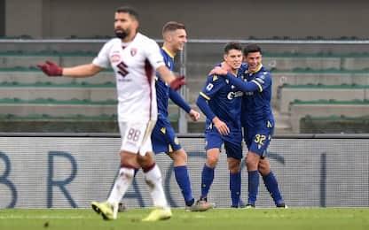 Verona, clamorosa rimonta sul Torino: da 0-3 a 3-3