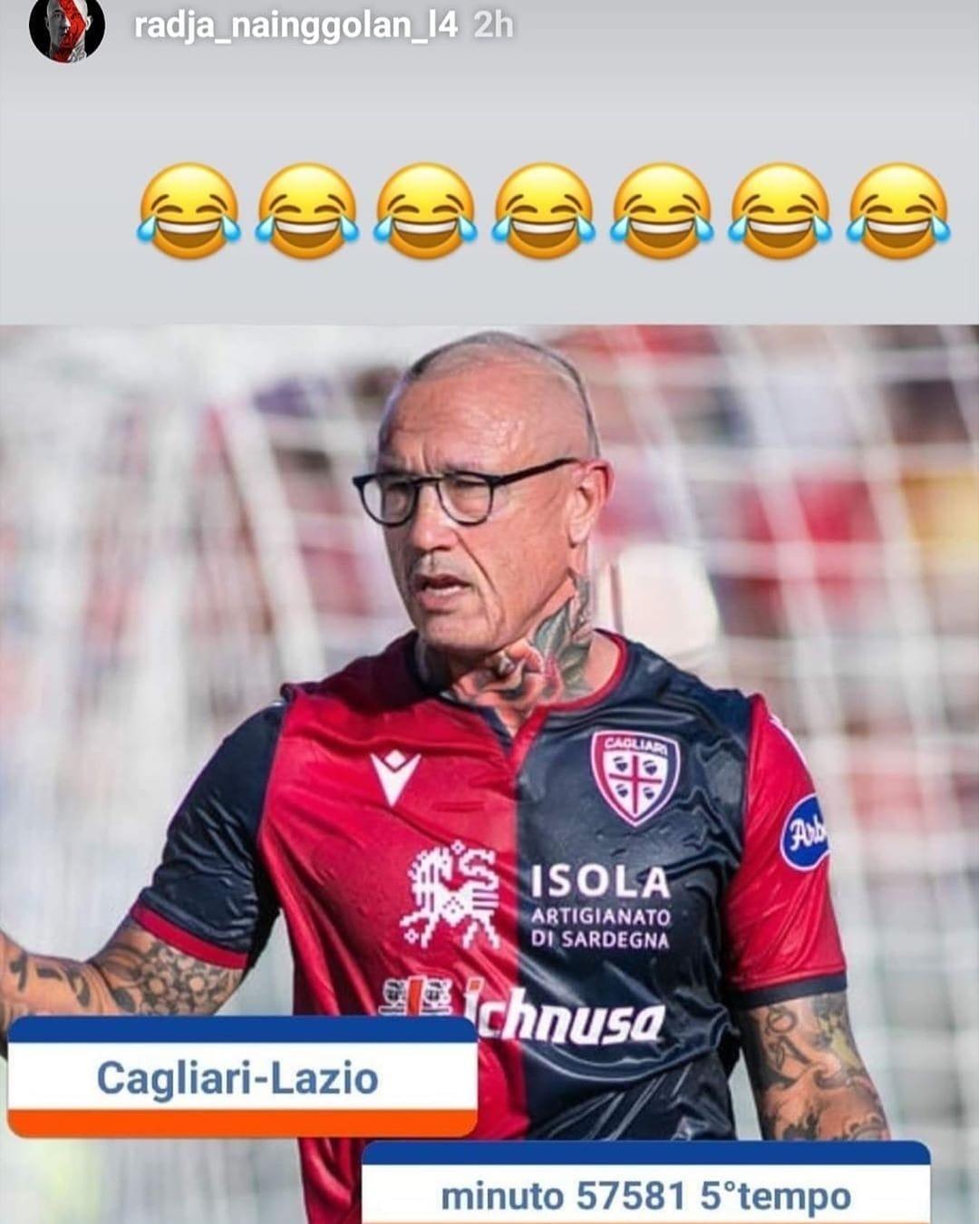 Cagliari, Nainggolan su Instagram
