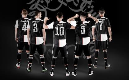 Juve, maglia speciale per Riad: nomi in arabo