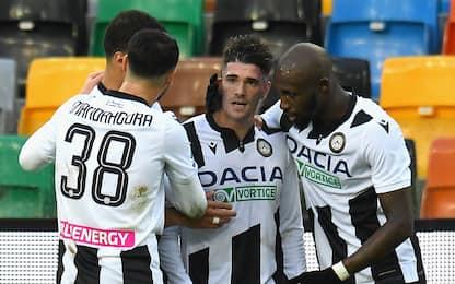 L'Udinese torna a vincere: Cagliari ko 2-1