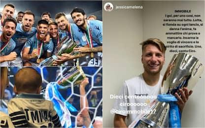 Lazio, la festa social di giocatori e famiglie