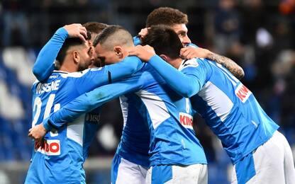Il Napoli torna a vincere: 2-1 al Sassuolo al 94'