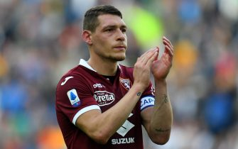 UDINE, ITALY - OCTOBER 20: Andrea Belotti of Torino FC during the Serie A match between Udinese Calcio and Torino FC at Stadio Friuli on October 20, 2019 in Udine, Italy. (Photo by Alessandro Sabattini/Getty Images)