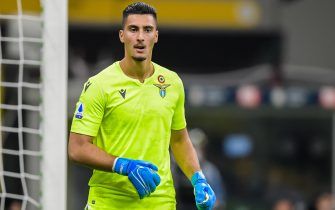 goalkeeper Thomas Strakosha of SS Lazio during the Lega Calcio Serie A TIM match between FC Internazionale and SS Lazio at Stadio Giuseppe Meazza on September 25, 2019 in Milan, Italy(Photo by VI Images via Getty Images)