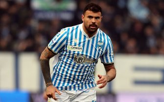 FERRARA, ITALY - DECEMBER 08: Andrea Petagna of Spal looks on during the Serie A match between SPAL and Brescia Calcio at Stadio Paolo Mazza on December 8, 2019 in Ferrara, Italy.  (Photo by Gabriele Maltinti/Getty Images)