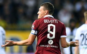 PARMA, ITALY - SEPTEMBER 30:  Andrea Belotti of Torino FC  celebrates after scoring the 1-2 goal during the Serie A match between Parma Calcio and Torino FC at Stadio Ennio Tardini on September 30, 2019 in Parma, Italy.  (Photo by Alessandro Sabattini/Getty Images)