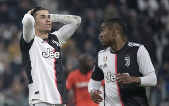 TURIN, ITALY - DECEMBER 15: Cristiano Ronaldo of Juventus FC reacts during the Serie A match between Juventus and Udinese Calcio at Allianz Stadium on December 15, 2019 in Turin, Italy. (Photo by Stefano Guidi/Getty Images)