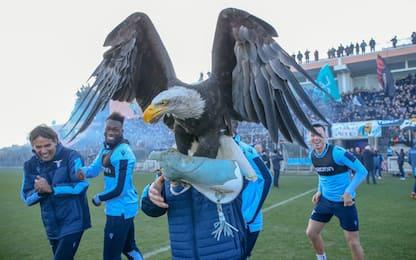 Delirio Lazio, in 10 mila per la Supercoppa. VIDEO