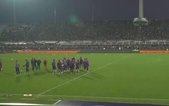 Fiorentina, allenamento a porte aperte al Franchi