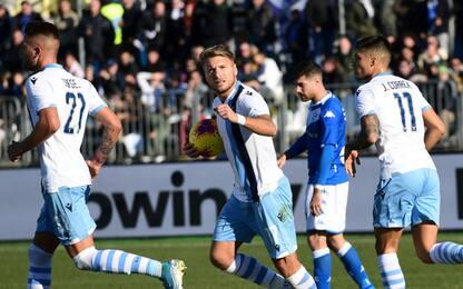 Doppio Immobile, la Lazio vince a Brescia al 91'