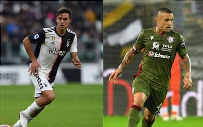 Juventus-Cagliari, le probabili formazioni