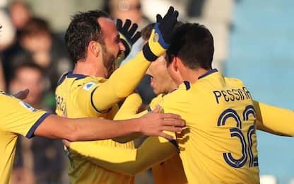 Pazzini e Stepinski lanciano il Verona: Spal ko