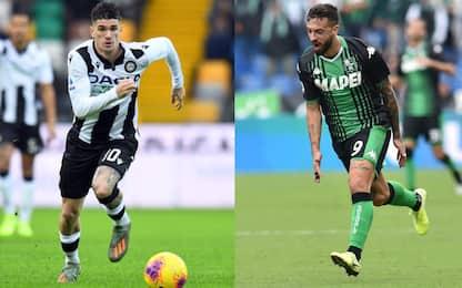 Udinese-Sassuolo, le probabili formazioni