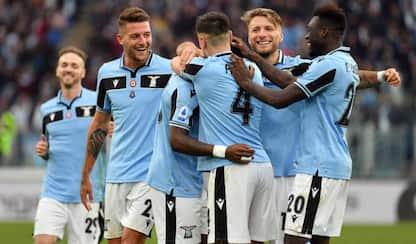Tris di Immobile, la Lazio travolge la Samp 5-1